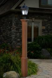 "74""H x 6""W Trinity Composite Cedar Tone Lamp Post"