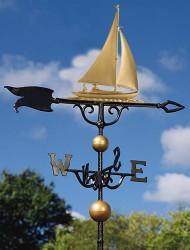 "Whitehall 46"" Sailboat Weathervane"