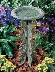 Whitehall Butterfly Birdbath & Pedestal