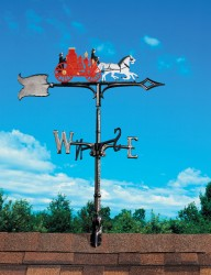 "Whitehall 30"" Fire Wagon Color Weathervane"