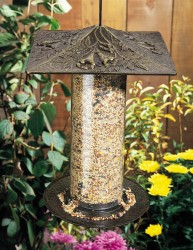 Whitehall 12'' Trumpet Vine Tube Bird Feeder