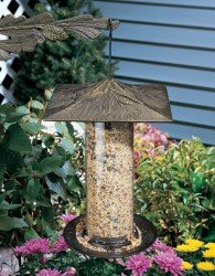 Whitehall 12'' Pinecone Tube Bird Feeder