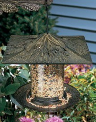 Whitehall 6'' Pinecone Tube Bird Feeder