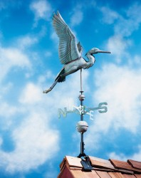 Whitehall Full Bodied Copper Heron Weathervane