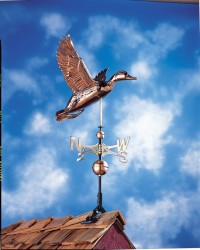 Whitehall Full Bodied Copper Duck Weathervane