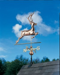 Whitehall Full Bodied Copper Deer Weathervane