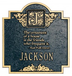Whitehall Emerson Standard Decorative Address Wall Plaque