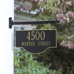 Whitehall Two Sided Hanging Arch Address Plaque