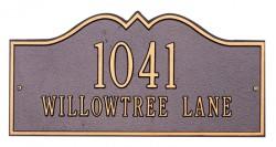 Whitehall Hillsboro Estate Decorative Address Plaque