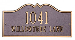 Whitehall Hillsboro Standard Decorative Address Plaque