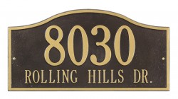 Whitehall Rolling Hills Standard Address Wall Plaque