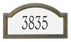 Whitehall Standard Providence Arch Reflective Address Plaque