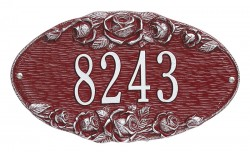 Whitehall Rose Standard Oval Address Wall Plaque