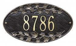 Whitehall Ivy Standard Oval Address Wall Plaque