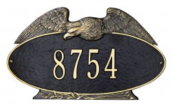 Whitehall Eagle Oval Standard Decorative Address Plaque