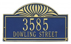 Whitehall Sunburst Estate Decorative Address Plaque