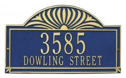 Whitehall Sunburst Standard Decorative Address Plaque