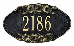 Whitehall Pansy Standard Oval Address Wall Plaque
