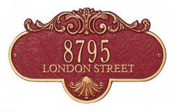 Whitehall Rochelle Estate Decorative Address Wall Plaque