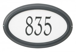 Whitehall Estate Concord Oval Reflective Address Plaque