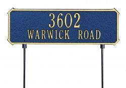 Whitehall Two Sided Rectangle Standard Address Plaque