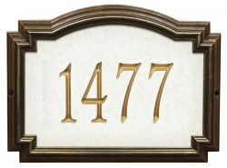 Whitehall Williamsburg Artisan Stone Standard Address Plaque