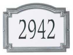 Whitehall Estate Williamsburg Rectangle Reflective Address Plaque