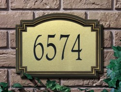 Whitehall Williamsburg Artisan Metal Standard Address Plaque