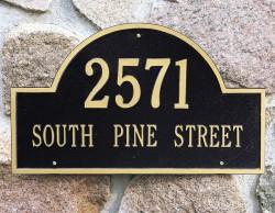 Whitehall Arch Marker Estate Address Plaque