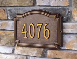 Whitehall Williamsburg Estate Address Plaque