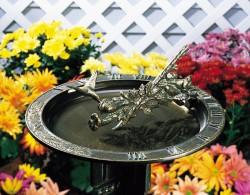 Whitehall Hummingbird Sundial Birdbath