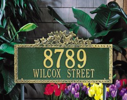 Whitehall Ivy Estate Decorative Address Plaque