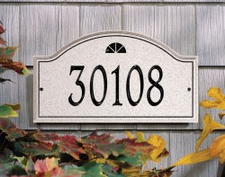 Whitehall Boca Raton Carved Stone Standard Address Wall Plaque