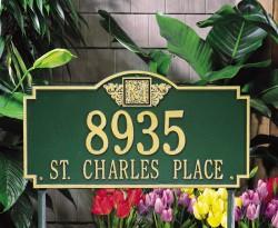Whitehall Monogram Estate Decorative Address Plaque