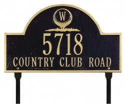 Whitehall Monogram Golf Arch Standard Plaque