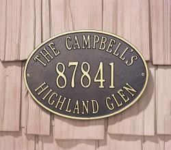 Whitehall Hawthorne Estate Oval Address Plaque
