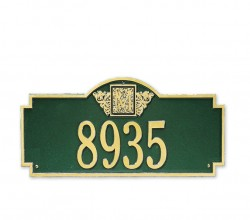Whitehall Monogram Petite Decorative Address Wall Plaque