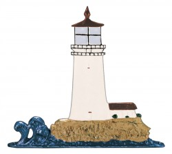 Whitehall Mailbox Sign Ornament - Lighthouse