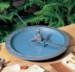 Whitehall Fisherboy Sundial Birdbath
