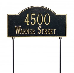 Whitehall Two-Sided Arch Marker Standard Address Lawn Plaque