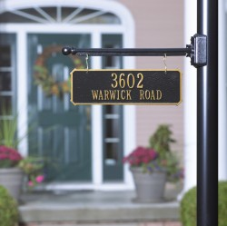 Whitehall Two Sided Hanging Rectangle Address Plaque
