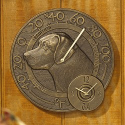 Whitehall Labrador Thermometer Clock