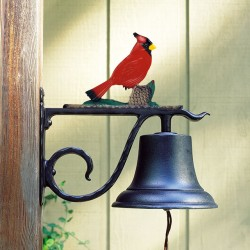 Whitehall Large Bell with Cardinal