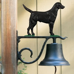 Whitehall Large Bell with Black Lab