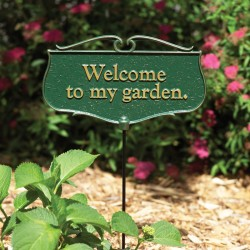 Whitehall ''Welcome to my garden.'' Garden Poem Sign