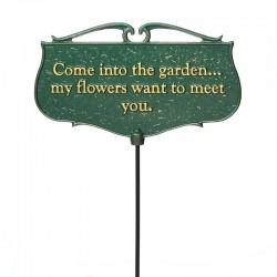 Whitehall ''Come into the garden'' Garden Poem Sign