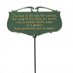 Whitehall ''The kiss of the sun'' Garden Poem Sign