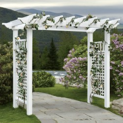 "86""H x 111"" W x 33""D  Fairfield Grande Arbor, White"