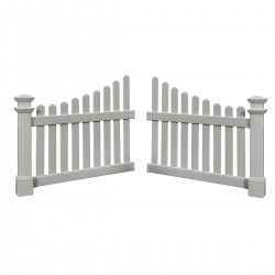"Cottage Picket Wings Set of 2, Dimensions: 45""W x 49 1/2""H"
