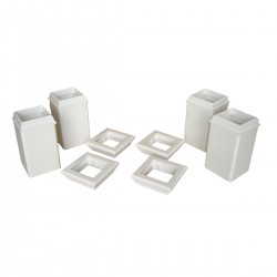 Trim Kit for 4 x 4 Posts Set Of 4, White